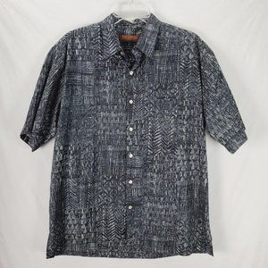 Tori Richard Honolulu Black Cotton Lawn Shirt Med